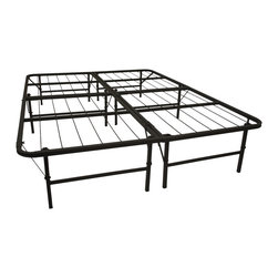 None - Pragma Queen-size Bi-fold Bed - The Pragma bed frame is engineered to provide maximum comfort,and versatile enough to be folded in under 30 seconds. The bed base provides a flat,sturdy,squeak-free base for a memory foam mattress or even an old spring mattress.