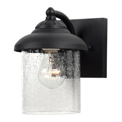 Sea Gull Lighting - Sea Gull Lighting 84068-12 Lambert Hill Black Outdoor Wall Sconce - Sea Gull Lighting 84068-12 Lambert Hill Black Outdoor Wall Sconce