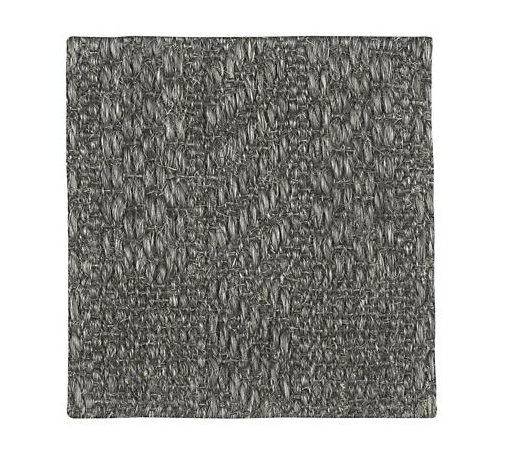 "Piper Charcoal 12"" sq. Rug Swatch - Designer Josi Severson's breakdown on classic stripes interrupts the expected in a casual tweedy pattern. Refined weave is loomed of durable sisal fiber tightly woven to create depth and texture."