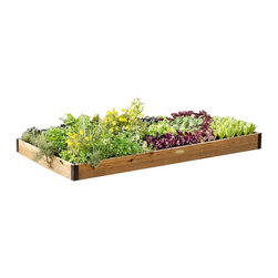 "Gardener's Supply Company - Premium 4' Cedar Beds, 4x12, 7.25"" High - Our Elegant Cedar Raised Beds Blend Design, Durability & Value for Vegetable & Flower Gardens"