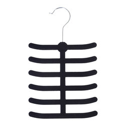 None - Velvet Anti-slip Tie/ Belt Hangers (Pack of 2) - Achim's velvet anti-slip tie/belt hanger feature a velvet,non-slip surface that is gentle on delicate garments such as silk ties and prevents fabrics from slipping and creasing while helping to preserve your garments natural shape.