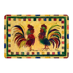 Caroline's Treasures - Bird - Rooster Kitchen Or Bath Mat 24X36 - Kitchen or Bath COMFORT FLOOR MAT This mat is 24 inch by 36 inch.  Comfort Mat / Carpet / Rug that is Made and Printed in the USA. A foam cushion is attached to the bottom of the mat for comfort when standing. The mat has been permenantly dyed for moderate traffic. Durable and fade resistant. The back of the mat is rubber backed to keep the mat from slipping on a smooth floor. Use pressure and water from garden hose or power washer to clean the mat.  Vacuuming only with the hard wood floor setting, as to not pull up the knap of the felt.   Avoid soap or cleaner that produces suds when cleaning.  It will be difficult to get the suds out of the mat.