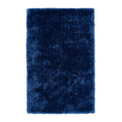 "Kaleen - Kaleen Posh Collection PSH01-10 2'3"" x 8' Denim - Posh is the perfect rug to make your feet say ooh and ahhh!! Super plush and silky to the touch, this hot new shag rug is exactly what your room has been asking for! Find the perfect spot to curl up on after a long day or bring in your favorite pop of color for a complete room makeover. The Posh collection allows for diversity and fashionable style for all of your decorating needs with over 20 colors to choose from. Each rug is handmade in China of the finest 100% polyester."