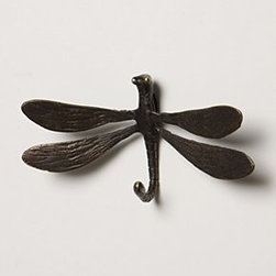 "Anthropologie - Darting Dragonfly Hook - Hardware requiredBrass2.5""H, 4.5""W1.5"" projectionImported"