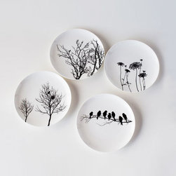 Naturescape Bone China Plates - Set of 4 - Enjoy the beauty of the country while eating from these gorgeous bone china plates. Each plate displays a poetic scene in nature. Whether used as dinner plates or serving plates, this set is bound to have everyone thinking about the outdoors, right from the comfort of your rooftop.