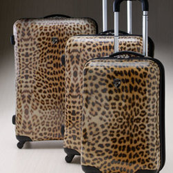 "Heys - Heys 26"" Lightweight Hardside Spinner - A stunning leopard-print is embedded into the lightweight polycarbonate composite material of these durable hardside suitcases that are expandable up to 2"". Each bag has four high-quality wheels that turn in any direction to allow for easy movement. Imp..."
