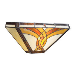 Kichler - Kichler 69032 ADA Compliant Stained Glass / Tiffany Two Light Wall Sconce - Kichler 69032 Sonora ADA Compliant Wall Sconce