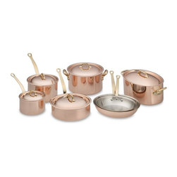 Mauviel Copper 12-Piece Cookware Set - I'll admit that this is in the realm of things I'd love to own and hope to own in the future, but Mauviel is known as one of the classic copper pan manufacturers, and well, I think I deserve to have this hanging in the kitchen.
