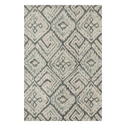 """Loloi Rugs - Loloi Rugs Avanti Collection - Teal, 3'-6"""" x 5'-6"""" - Power loomed in China, Avanti presents a collection of vintage-inspired rugs with an incredibly soft microfiber surface. The intentionally distressed patterns create a weathered look that simultaneously implies heritage and modernity. Made of 100% polyester, each rug will retain its sharp and vibrant colors for years to come."""