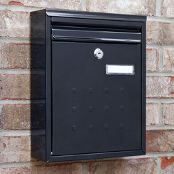 Amsden Locking Wall-Mount Mailbox - The Amsden Locking Wall-Mount Mailbox features a lock for security and a customizable label for personalization. The accommodating rectangular shape will complement any home's entrance.