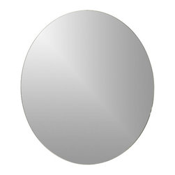 Decor Wonderland Mirrors - Decor Wonderland Frameless Round Beveled Mirror - Strike a pose in front of this stylish and super modern round frameless wall mirror with a deep bevel border. Perfect mirror for your hallway, living room or bathroom.