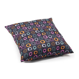 Zuo Modern - Large Pillow in Chocolate - Water resistant polyblend. Base with multicolor pattern. Warranty: One year limited. Made from foam. No assembly required. 21.3 in. L x 21.3 in. W x 6.7 in. H (3.1 lbs.)