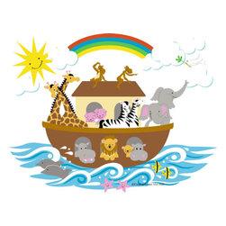 Elephants on the Wall - Small Noah's Ark Paint by Number Wall Mural - Small Noah's Ark Paint by Number Wall Mural