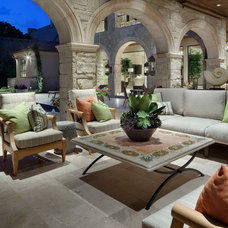 Traditional Patio by JAUREGUI Architecture Interiors Construction