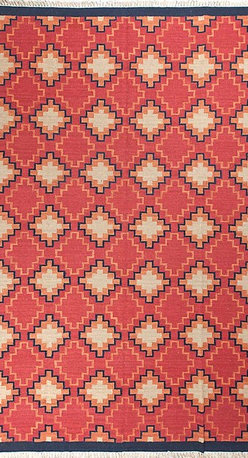 Hand woven Pure Wool Kilim Area Rug  Red Carpet - A brand new very beautiful hand woven kilim.