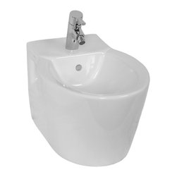 Vitra - Unique White Rounded Ceramic Wall Mounted Bidet - If your bathroom is in need of a bidet, why not consider this luxurious bidet from the Vitra Sunrise collection? Perfect for more contemporary settings, this quality bidet is wall mount and finished with white.