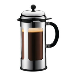 French Press Coffee Maker, Double Wall, 8 cup, Shiny - My husband and I have loved our new French coffee press. It's easy to use, and the flavor is outstanding. Put your drip coffee maker aside, and give this one a try.