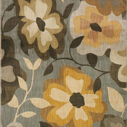 Home Decorators Collection - The Flourish III Area Rug - From the Signature Collection, the Flourish Area Rug will complement a transitional space while adding comfort underfoot. Crafted of nylon, the most versatile of all fibers, this rug offers both durability and comfort. The bold floral patterns and design will add a unique flair to your decor. Add this stylish piece to your design mix today. Quality crafted of nylon with a wool-like feel. Thick, dense pile is extremely durable.