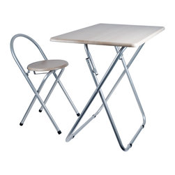 Trademark Home - Trademark Home Folding Desk and Chair Combo - This folding desk and chair combination provides a handy place to enjoy dinner, work on crafts, or complete a homework assignment. The folding design makes this combo easy to store, and the steel frame ensures this set is sturdy and durable.
