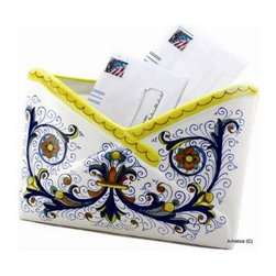 Artistica - Hand Made in Italy - RICCO DERUTA: Envelope pocket holder - RICCO DERUTA: This product is part of the renown Ricco Deruta Collection.