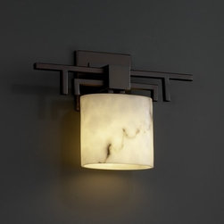 Justice Design Group - Justice Design Group FAL-8711 Aero ADA Compliant Single Light Wall Sconce - Justice Design Group FAL-8711 Aero ADA Compliant Single Light Wall Sconce from the LumenAria CollectionThe LumenAria� Collection offers the look of genuine carved alabaster without the cost. These faux alabaster fixtures combine many of your favorite Justice Design Group, LLC shapes with the warmth and beauty of an alabaster glow.From an elegant lamp atop a contemporary end table to a dramatic sconce illuminating a formal entryway, Justice Design offers a wide array of lighting solutions for residential and commercial settings. Create a mood, complement a theme, or simply add the perfect accent with a Justice Design decorative lighting fixture.