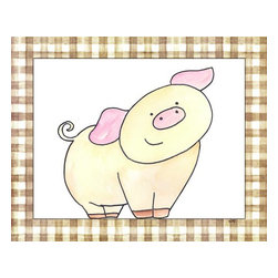 Oh How Cute Kids by Serena Bowman - Here's Looking at You - Pig, Ready To Hang Canvas Kid's Wall Decor, 8 X 10 - Every kid is unique and special in their own way so why shouldn't their wall decor be so as well! With our extensive selection of canvas wall art for kids, from princesses to spaceships and cowboys to travel girls, we'll help you find that perfect piece for your special one.  Or fill the entire room with our imaginative art, every canvas is part of a coordinating series, an easy way to provide a complete and unified look for any room.