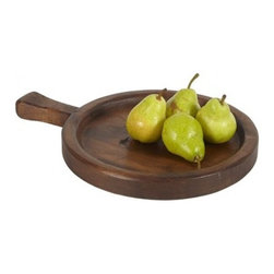 "Europe2You - Spanish Olive Small Wooden Serving Tray - We discovered this great tray on a trip to Europe in a seaside restaurant. It was overflowing with scrumptious olives, a specialty of the island. We loved the look and were inspired to craft our own tray made entirely from 19th Century timber finished with organic oil. This is the perfect fruit and cheese tray as the raised edge keeps all your contents in place.    * Dimensions: W: 14"" H: 1.5"" D: 18.5""  * Available in 3 different sizes"