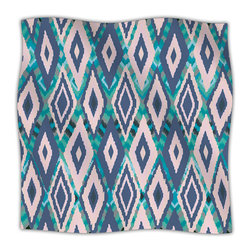 """Kess InHouse - Nika Martinez """"Tribal Ikat"""" Blue Pattern Fleece Blanket (30"""" x 40"""") - Now you can be warm AND cool, which isn't possible with a snuggie. This completely custom and one-of-a-kind Kess InHouse Fleece Throw Blanket is the perfect accent to your couch! This fleece will add so much flare draped on your sofa or draped on you. Also this fleece actually loves being washed, as it's machine washable with no image fading."""