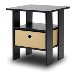 Furinno - Furinno 11157 Petite End Table, Espresso/Brown - These models are designed to fit in your space, style and fit on your budget.  The main material,  Particleboard, is made from recycled materials of rubber trees, eco-friendly. All the materials are manufactured in Malaysia and comply with the green rules of production. There is no foul smell, durable and the material is the most stable amongst the particleboards. A simple attitude towards lifestyle is reflected directly on the design of Furinno Furniture, creating a trend of simply nature. All the products are produced and packed 100-percent in Malaysia with 90% - 95% recycled materials.  Care instructions: wipe clean with clean damped cloth. Avoid using harsh chemicals.  Pictures are for illustration purpose. All decor items are not included in this offer.