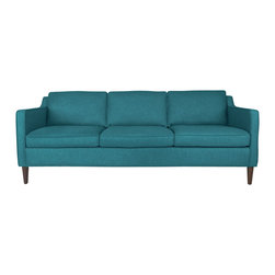 Bryght - Teal Mid-Century Modern Sofa | Cherie Mid-Century Modern Furniture - A sleek contemporary profile, smooth tapered legs and slope arms make the Cherie sofa perfect for the modern home