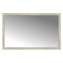 """Posters 2 Prints, LLC - 56"""" x 35"""" Libretto Antique Silver Custom Framed Mirror - 56"""" x 35"""" Custom Framed Mirror made by Posters 2 Prints. Standard glass with unrivaled selection of crafted mirror frames.  Protected with category II safety backing to keep glass fragments together should the mirror be accidentally broken.  Safe arrival guaranteed.  Made in the United States of America"""