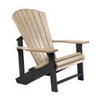 C.R. Plastic Products - C.R. Plastics Adirondack Chair In Two Tone - Can be used for residential or commercial use, Ergonomically designed, Heavy 78 gauge plastic lumber 12 used by competitors, All stainless steel hardware, No painting, No slivers, No Rot, Completely waterproof