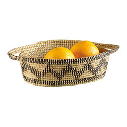 Coiled Oval Basket - This basket is handmade and its profits support a good cause. Use it for serving all sorts of food.
