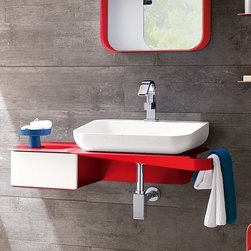 Arblu | Tulip Sink Console with Drawer -