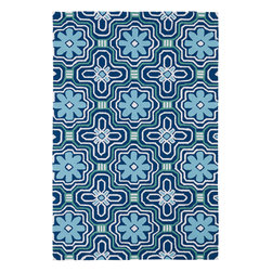 """Kaleen - Kaleen Matira MAT02 (Blue) 8'6"""" x 11'6"""" Rug - Matira is inspired from the absolutely beautiful and breathtaking secluded beaches of Bora Bora. White powdery sand, crystal clear blue waters, and the lush botanical surroundings embrace every aspect of this collection. Each rug is UV protected and handmade with 100% Polypropylene. Complete with our special """"K-Stop Non-Skid Backing"""", Matira will be your perfect anchor to a magical getaway."""