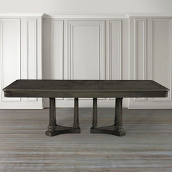 "Emporium Rectangular Dining Table by Bassett Furniture - Includes two 18"" leaves to extend to 112"" and seat up to 10."