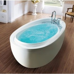 "Aquatica - Aquatica PureScape 316 Freestanding Acrylic Bathtub - White - Treat yourself and soak in peaceful tranquility with Aquatica's stylish and ergonomic PureScape 316 freestanding bathtub. Aquatica challenges everything we thought we knew about a bathtub with the world-class modern design and ergonomic features that are incorporated into all of their luxury tubs. Aquatica Purescape bathtubs are as pleasing to the eye as they are to soak in. Their striking visual appeal adds a mesmerizing modern elegance to any bathroom. From the finest selection of raw materials all the way to the high-class design, Aquatica has spared no expense to innovate and create some of the highest quality bathtubs in the world.Aquatica's bathtubs offer modern glamour at affordable prices. The Aquatica line is diverse enough to encompass both bathtubs with classical elegance that match the style of your bath and bathtub models that are distinctive and unique as the centerpiece of your remodel.FeaturesStriking upscale modern designFreestanding constructionSolid, one-piece construction for safety and durabilityExtra deep, full-body soakErgonomic design forms to the body's shape for ultimate comfortQuick and easy installationConstructed of 8mm thick 100% heavy gauge sanitary grade precision acrylicPremium acrylic and tub thickness provides for excellent heat retentionHigh gloss white surfaceColor is consistent throughout its thickness - not painted onColor will not fade or lose its brilliance overtimePreinstalled cable drive pop up and waste-overflow fitting includedDesigned for one or two person bathingNon-porous surface for easy cleaning and sanitizingBuilt-in metal base frame and adjustable height metal legsChrome plated drain5 Year Limited WarrantyCode compliant with American standard 1.5"" waste outletsSpecificationsOverall Dimensions: 70.75 in. L X 37.75 in. W X 25.5 in. HDepth to Overflow Drain: 16.2 in.Interior Depth: 17 in.Interior Length (Top): 57 in.Interior Width (Top): 27.25 in.Interior Length (Bottom): 43.25 in.Interior Width (Bottom): 20.5 in.Weight: 98 lbsCapacity: 58 GallonsShape: OvalDrain Placement: ReversibleSpec SheetNote: This model usually ships in 1-2 days. Please allow an additional 2-3 business days for order transmittal and verification."
