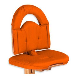 Svan - Svan High Chair Cushion in Orange - Provide added comfort and style to the Svan High Chair (sold separately) with this pad, which is beautifully fitted to the soft curves of the chair. PBDE-free, polyurethane foam pad.