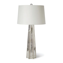 Antique Mercury Star Glass Lamp -