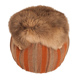 Salmagundi - Salmagundi Alpaca Tuffet - Little Miss Muffet didn't sit on this tuffet — but, you can! If your space needs a little whimsy, a little fun, consider this ottoman with its luxurious alpaca fur that will keep your tootsies warm and comfortable after a long day at the office.