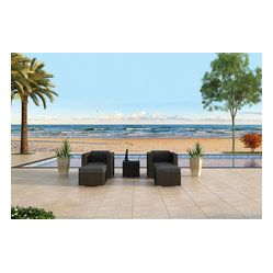 Urbana 3-Piece Patio Club Chair Set, Charcoal Cushions