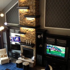 Contemporary Home Theater by SpartaCraft Custom Cabinets