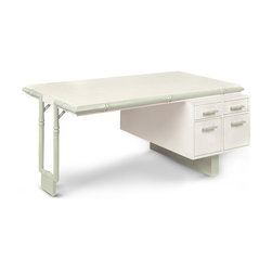Bamboo Desk - This Hollywood import comes from famous designer William Haines, who was renown for the super-stylish and ultra-chic furniture he designed for the rich and famous in Hollywood. And this desk speaks highly of his extraordinary talents. You cannot deny that a white-on-white desk is a super design statement.