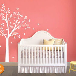 White Tree Wall Decal. Wall Sticker for Nursery and Baby Rooms - Beautiful Tree Wall Sticker.
