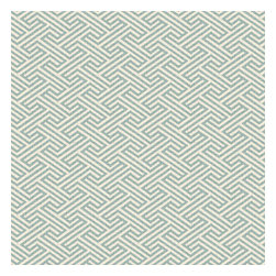Aqua Geometric Maze Linen Fabric - Geometric maze pattern in seafoam on ivory pure linen. A classic, yet modern coordinate for any decor.Recover your chair. Upholster a wall. Create a framed piece of art. Sew your own home accent. Whatever your decorating project, Loom's gorgeous, designer fabrics by the yard are up to the challenge!
