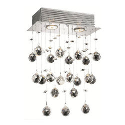 Elegant Lighting - Elegant Lighting 2022F20C Galaxy 6 Light Flush Mounts in Chrome - 2021 Galaxy Collection Wall Sconce W12in H17in E6in Lt:2 Chrome Finish (Elegant Cut Crystals)