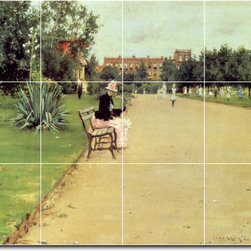 Picture-Tiles, LLC - The Park Tile Mural By William Chase - * MURAL SIZE: 24x32 inch tile mural using (12) 8x8 ceramic tiles-satin finish.