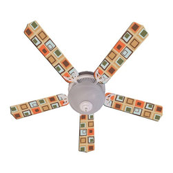 Ceiling Fan Designers - Ceiling Fan Designers Millennium Indoor Ceiling Fan - 42FAN-IMA-MSOB - Shop for Ceiling Fans and Components from Hayneedle.com! Retro fun squares with the Ceiling Fan Designers Millennium Indoor Ceiling Fan its style. Super fun and stylish this ceiling fan and light kit combo comes in your choice of size: 42-inch with 4 blades or 52-inch with 5. The blades are reversible so you get the vintage square design on one side or flip the blades for classic white on the other. It has a powerful yet quiet 120-volt 3-speed motor with easy switch for year-round comfort. The 42-inch fan includes a schoolhouse-style white glass shade and requires one 60-watt candelabra bulb (not included). The 52-inch fan has three alabaster glass shades and requires three 60-watt candelabra bulbs (included). Your ceiling fan includes a 15- to 30-year manufacturer's warranty (based on size).
