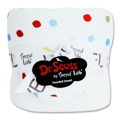 Trend Lab LLC - Trend Lab Bouquet Dr. Seuss One Fish Two Fish Kids Hooded Towel Multicolor - 303 - Shop for Towels from Hayneedle.com! Show your child the wonders of Dr. Seuss with the Trend Lab Bouquet Dr. Seuss One Fish Two Fish Kids Hooded Towel. Based on Seuss' popular book this towel's hood and trim feature red yellow green and blue dots for help in learning to count and identify colors. In bright white 100% cotton terry cloth the towel's body is absorbent and soft for a gentle dry you can count on. This towel measures 32 x 30 inches.About Trend LabBegun in 2001 in Minnesota Trend Lab is a privately held company proudly owned by women. Rapid growth in the past five years has put Trend Lab products on the shelves of major retailers and the company continues to develop thoroughly tested high-quality baby and children's bedding decor and other items. With mature professionals at the helm of this business Trend Lab continues to inspire and provide its customers with stylish products for little ones. From bedding to cribs and everything in between Trend Lab is the right choice for your children.