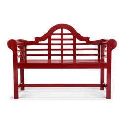 Grandin Road - Lutyens Wooden Outdoor Outdoor Bench - Handcrafted from solid hardwoods. Left untreated, the gently weathered finish will further evolve as the seasons pass. Applying urethane annually helps to preserve the look. Graceful rolled arms, a wide seat, and sophisticated arched back. The gently weathered look of our Lutyens Wooden Outdoor Bench will gain even more character with time. Inspired by the designs of renowned English architect Sir Edwin Lutyens, this outdoor bench stages a peaceful retreat in your own backyard.. . . . Basic assembly required.